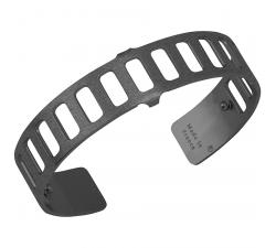 Bracelet Plaqué argent ruthénié satiné 14 mm Les Georgettes FOR MEN - Rythme 703180335F2000