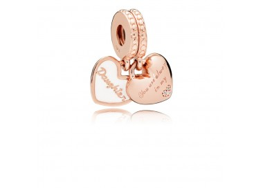 Charm pendentif Cœurs Mère et Fille PANDORA Rose 782072EN23