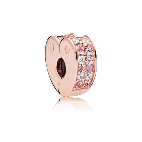 Clip Arcs de l'Amour Nuances de Roses Pandora Rose 787020NPM