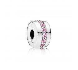 Clip Chemin Lumineux Rose Argent 925/1000 Pandora 791972PCZ