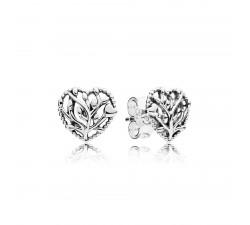 Boucles d'oreilles Cœurs en Fleurs Argent 925/1000e PANDORA 297085