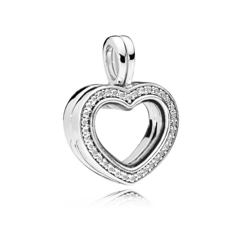 e029d1e1d Charm Médaillon Coeur scintillant PANDORA Argent 925/1000 Pandora 797248CZ