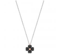 Pendentif Latisha Flower, noir, métal rhodié SWAROVSKI 5368980