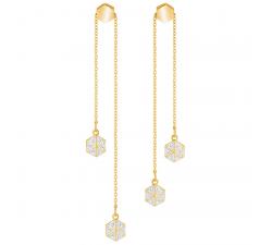 Boucles d'oreilles Lisabel, blanc, métal doré SWAROVSKI 5380106