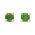 Boucles d'oreilles or jaune 750/1000, émeraude by Stauffer