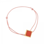 Bracelet cordon rose laque rouge en finition or LES CUMULABLES 70312101901000