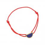 Bracelet cordon rouge laque bleue en finition or LES CUMULABLES 70312111902000