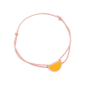 Bracelet cordon rose laque jaune en finition or rose LES CUMULABLES 70312114104000