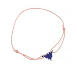 Bracelet cordon rose laque bleue en finition argenté LES CUMULABLES 70312121602000
