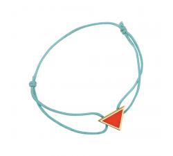 Bracelet cordon turquoise laque rouge en finition or LES CUMULABLES 70312121901000