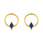 Ear Jacket Patti Laque bleue en finition or LES CUMULABLES 70322091902000