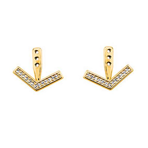 Ear Jacket Arrow en finition or LES CUMULABLES 70322281908000