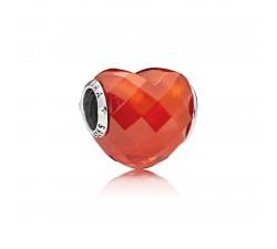 Charm Contours de l'Amour Orange Argent 925/1000 Pandora 796563OCZ