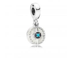 Charm pendentif Rose des Vents Argent 925/1000 Pandora 797196EN23