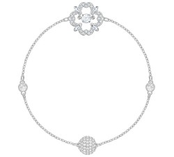 Swarovski Remix Collection Sparkling Dance Flower, blanc, Plaqué rhodium SWAROVSKI 5396228