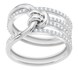 Bague Lifelong Wide, blanc, métal rhodié SWAROVSKI 5402449