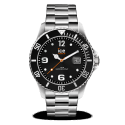 Montre ICE WATCH ICE STEEL - BLACK SILVER - LARGE 44 MM 016032