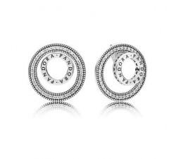 Boucles d'oreilles Signature PANDORA Pour Toujours Argent 925/1000e PANDORA 297446CZ