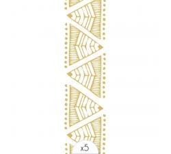 Tattoo LOVELY SIOOU Bracelet ethnique doré composé de différents triangles. WFB04