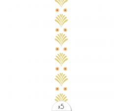 Tattoo LOVELY SIOOU Un élégant bracelet composé de multiples feuilles de palme dorées et de points orangés. DVB03