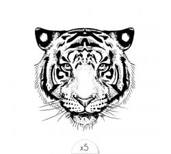 Tattoo LOVELY SIOOU Révélez votre côté sauvage avec ce tatouage tigre par Marie-Claire Stump. BR04