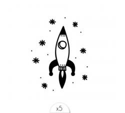 Tattoo LOVELY SIOOU Un petit tattoo éphémère en forme de fusée pour vous faire découvrir de nouvelles galaxies. DPZ14