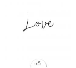 """Tattoo LOVELY SIOOU Délicate écriture à l'encre noire """"Love"""" LT03"""