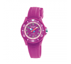 Montre AM:PM mauve éducative PM192-K514