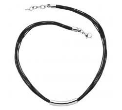 Collier acier et caoutchouc Elixa EL121-8194