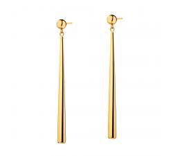 Boucles d'oreilles pendantes acier PVD jaune Elixa EL127-0799