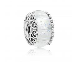 Charm Murano Blanc Irisé Argent 925/1000 Pandora 797617