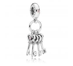 Charm pendentif Clefs de l'Amour Argent 925/1000 Pandora 797654NPMMX