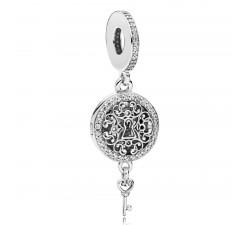 Charm pendentif Clef de l'Amour Royale Argent 925/1000 Pandora 797660CZ