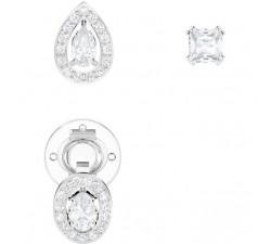 Boucles d'oreilles Attract, blanc, métal rhodié SWAROVSKI 5410284