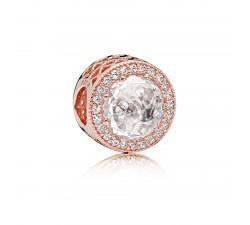 Charm Cœurs Lumineux Ajourés Pandora Rose 781725CZ