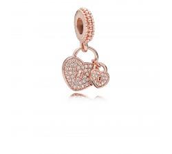 Charm Pendentif Cadenas de l'Amour Pandora Rose 781807CZ