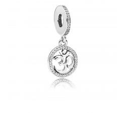 Charm pendentif Symbole Om Argent 925/1000 Pandora 797584CZ