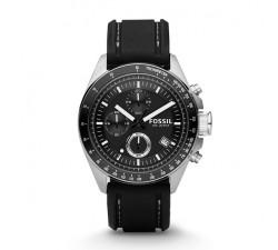 Montre Homme Fossil - Decker chronographe en silicone - Noir