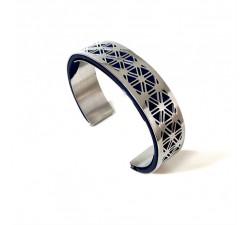Bracelet acier manchette 15 mm ODA DREAMS GRILLE