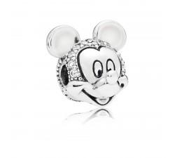 Clip Disney, Portrait de Mickey Scintillant, Argent 925/1000 Pandora 797495CZ