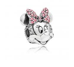 Clip Disney, Portrait de Minnie Scintillant, Argent 925/1000 Pandora 797496CZS