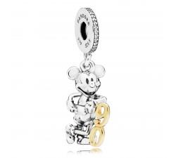 EDITION LIMITEE Charm pendentif Disney, Mickey Sorcier, Argent 925/1000 Pandora 797497CZ