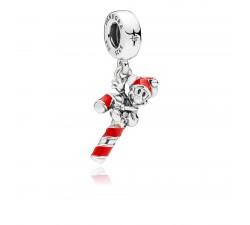 Charm pendentif Disney, Sucre d'Orge de Mickey Père Noël, Argent 925/1000 Pandora 797500EN09