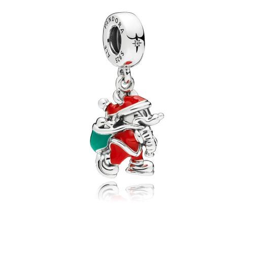 Charm pendentif Disney, Mickey Père Noël et sa Hotte, Argent 925/1000 Pandora 797501ENMX