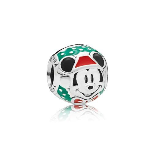 Nouveau Charm Mickey Père Noël en Argent 925/1000 Pandora 797502ENMX