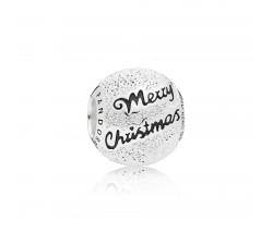"""Charm de Noel 2019, """"Merry Christmas"""" en Argent 925/1000 Pandora 797524EN16"""