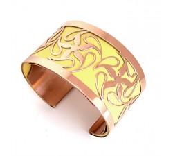 Bracelet acier manchette 37 mm ODA DREAMS Rosée