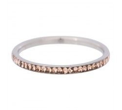 Bague zirconium gold quartz IXXXI 2 mm - Argent Taille 17 R0251117003