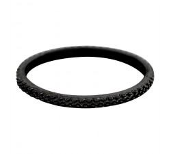 Bague Caviar IXXXI 2 mm - Noir