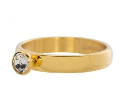 Bague Zirconium 1 cristal IXXXI 4 mm - Or jaune